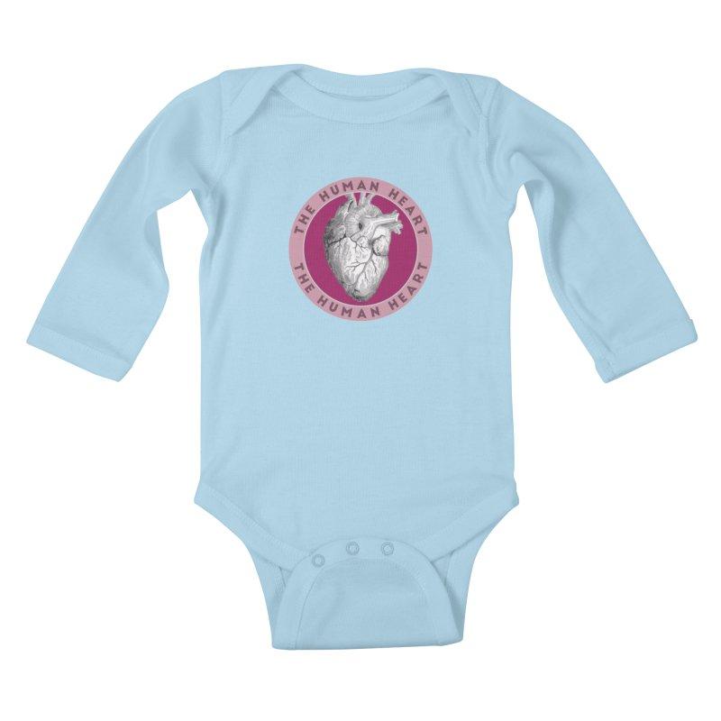 The Human Heart Kids Baby Longsleeve Bodysuit by Moon Joggers's Artist Shop