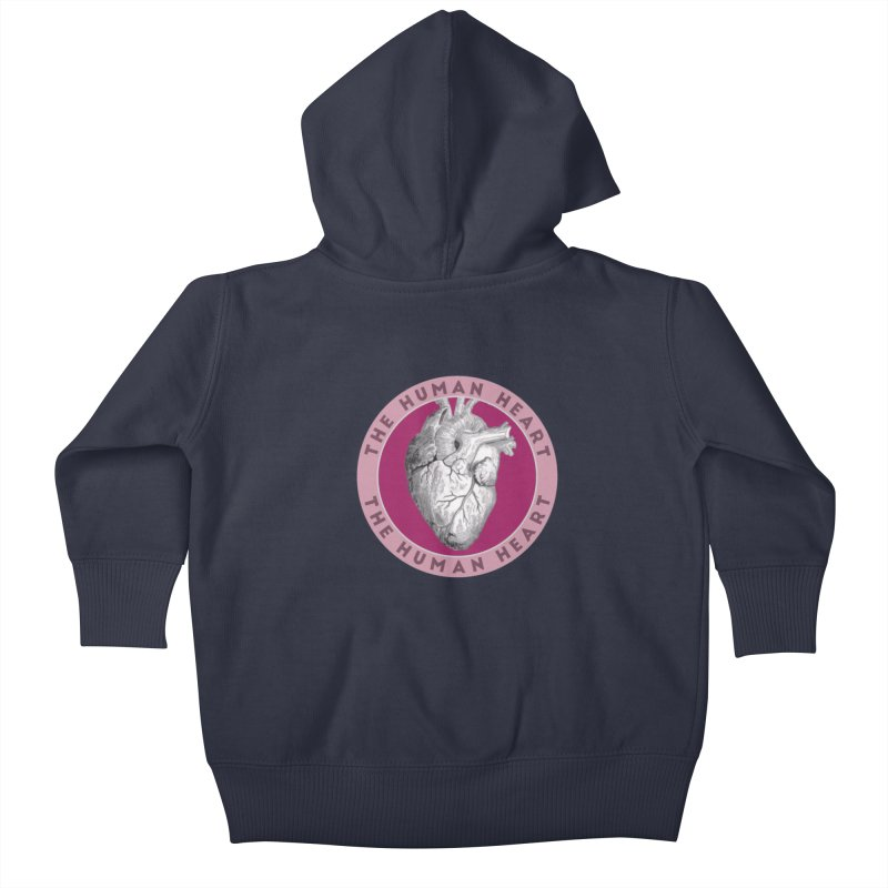 The Human Heart Kids Baby Zip-Up Hoody by Moon Joggers's Artist Shop