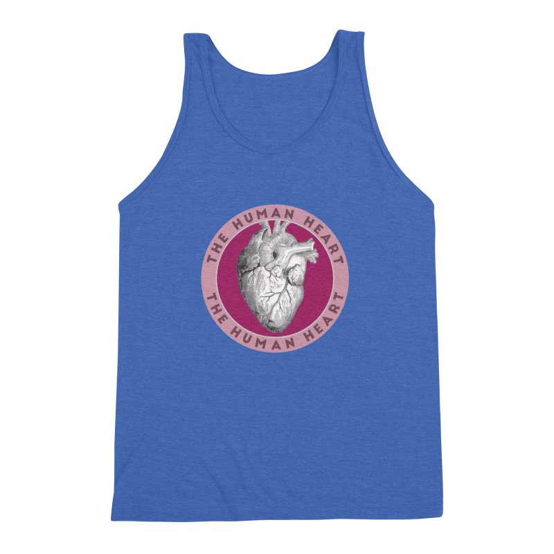 The Human Heart Men's Triblend Tank by Moon Joggers's Artist Shop