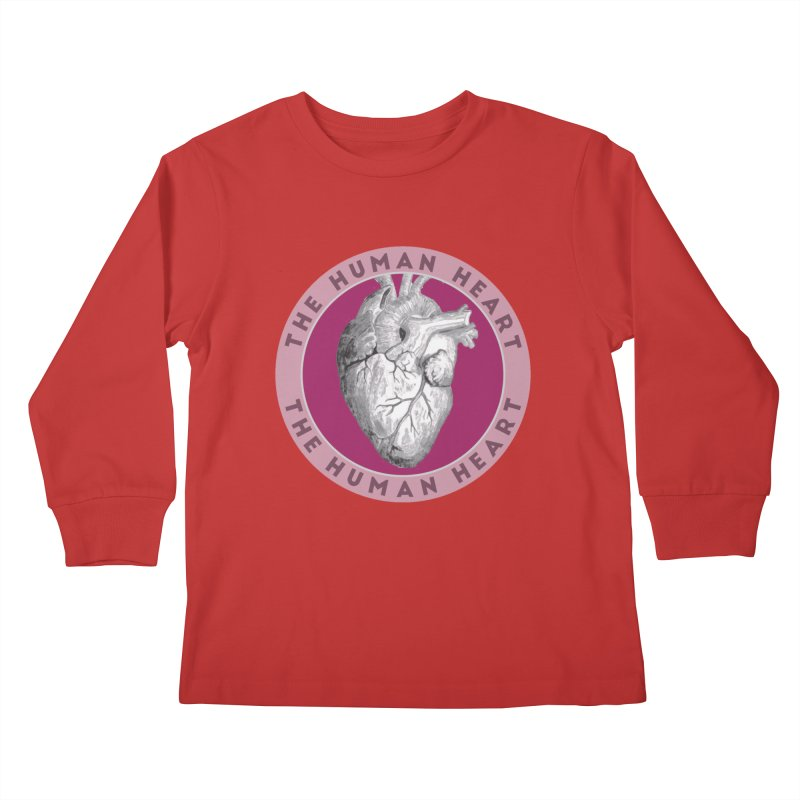 The Human Heart Kids Longsleeve T-Shirt by Moon Joggers's Artist Shop