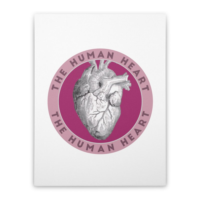The Human Heart Home Stretched Canvas by Moon Joggers's Artist Shop