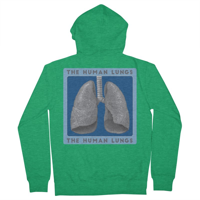 The Human Lungs Women's French Terry Zip-Up Hoody by Moon Joggers's Artist Shop