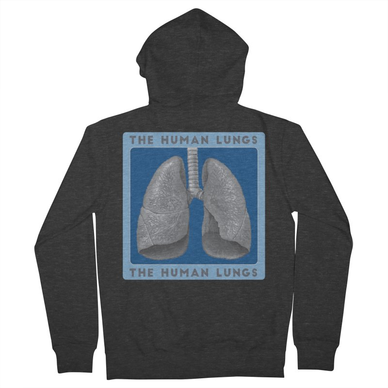 The Human Lungs Men's French Terry Zip-Up Hoody by Moon Joggers's Artist Shop