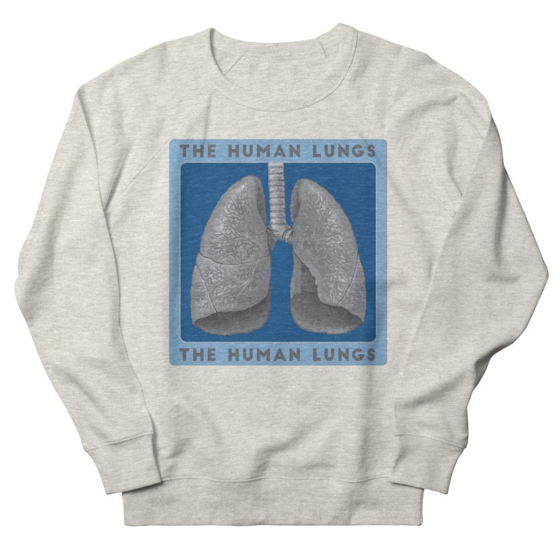 The Human Lungs Men's French Terry Sweatshirt by Moon Joggers's Artist Shop