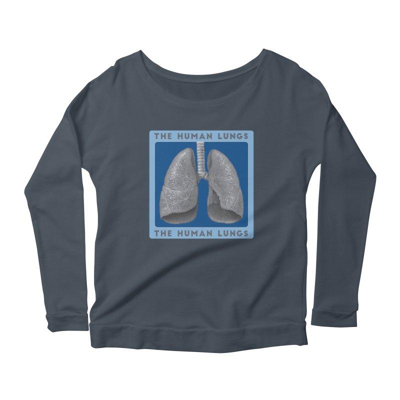 The Human Lungs Women's Scoop Neck Longsleeve T-Shirt by Moon Joggers's Artist Shop
