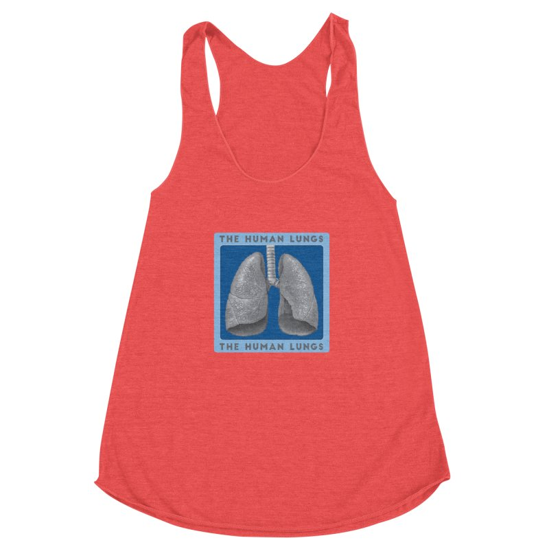 The Human Lungs Women's Racerback Triblend Tank by Moon Joggers's Artist Shop