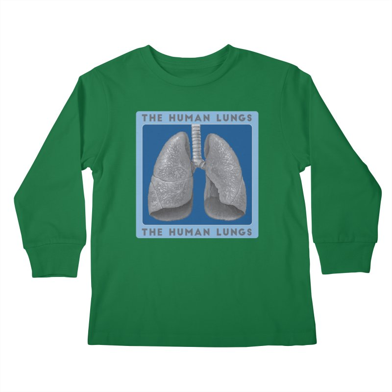 The Human Lungs Kids Longsleeve T-Shirt by Moon Joggers's Artist Shop