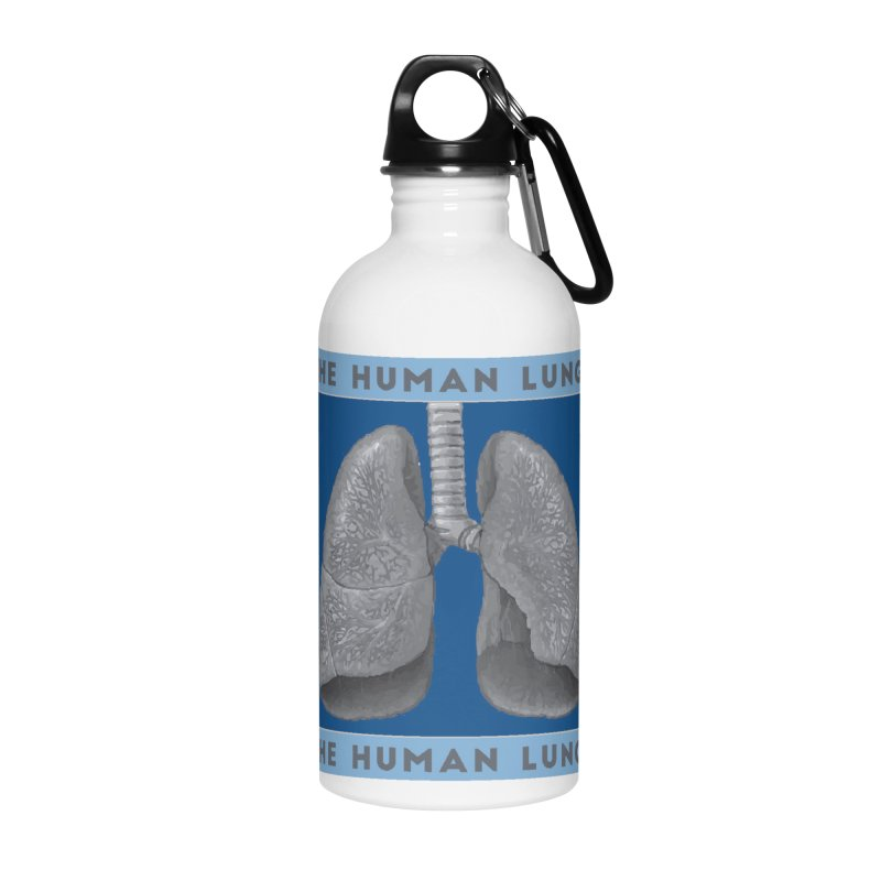 The Human Lungs Accessories Water Bottle by Moon Joggers's Artist Shop