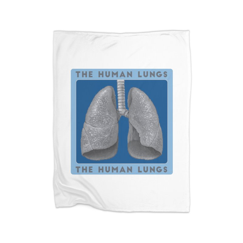 The Human Lungs Home Fleece Blanket Blanket by Moon Joggers's Artist Shop