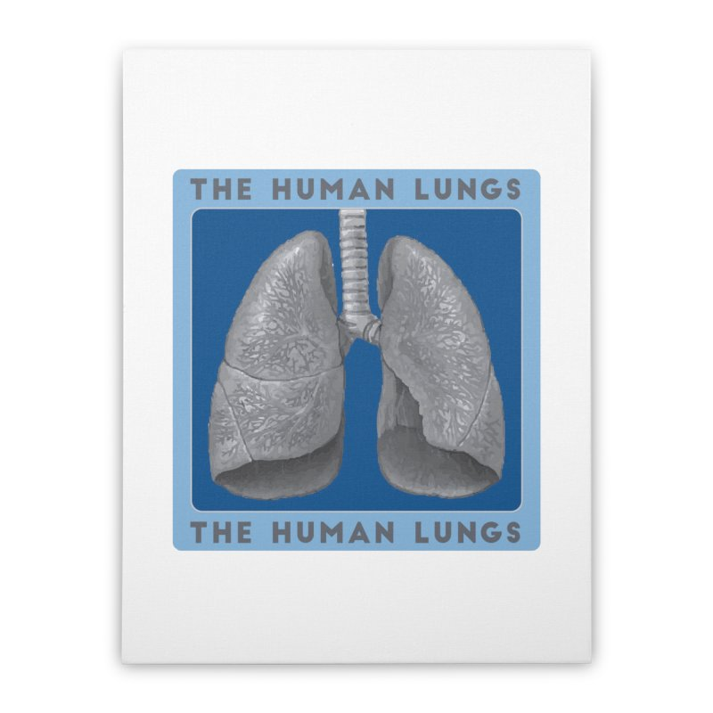 The Human Lungs Home Stretched Canvas by Moon Joggers's Artist Shop