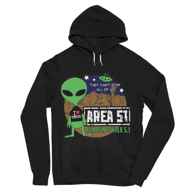 Area 51 5.1K Fun Run & Walk Women's Sponge Fleece Pullover Hoody by Moon Joggers's Artist Shop