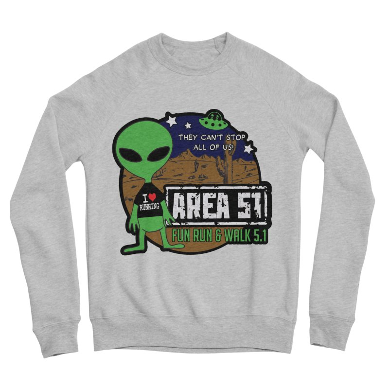 Area 51 5.1K Fun Run & Walk Men's Sponge Fleece Sweatshirt by Moon Joggers's Artist Shop