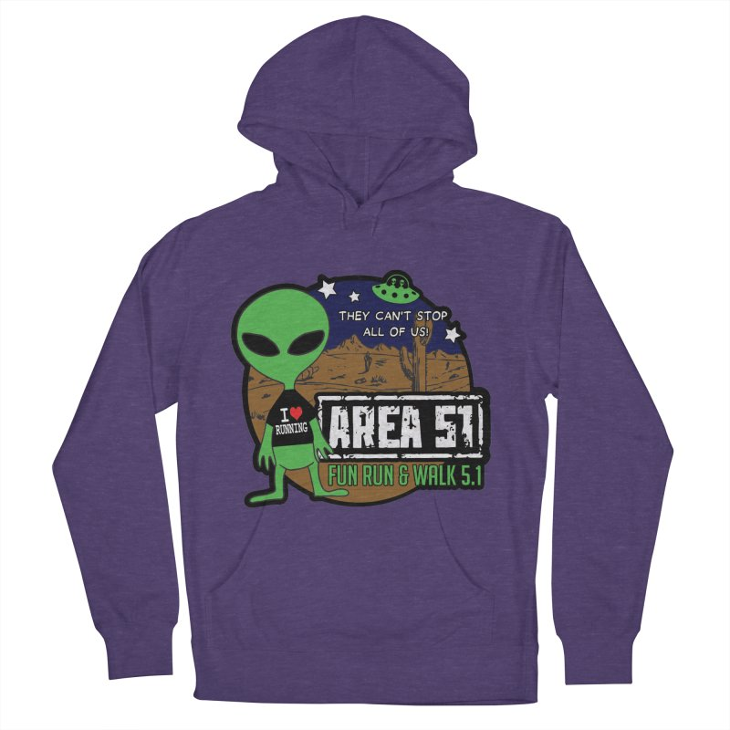 Area 51 5.1K Fun Run & Walk Women's French Terry Pullover Hoody by Moon Joggers's Artist Shop