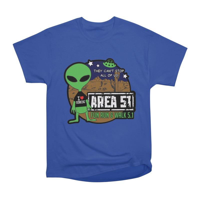 Area 51 5.1K Fun Run & Walk Men's Heavyweight T-Shirt by Moon Joggers's Artist Shop