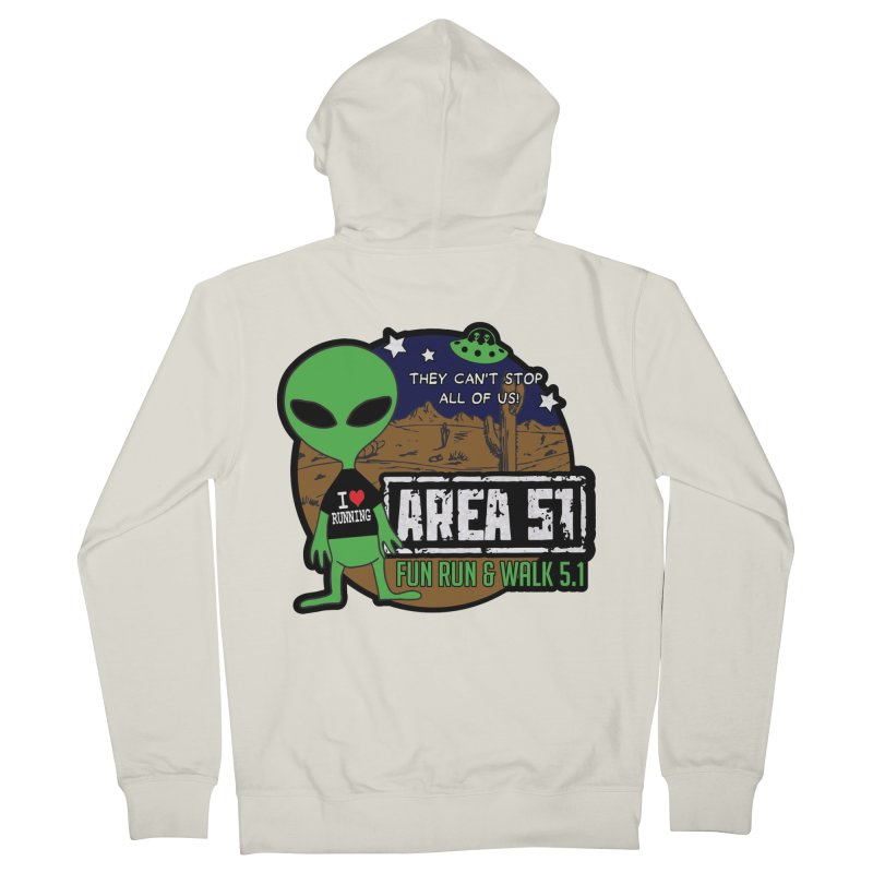 Area 51 5.1K Fun Run & Walk Women's French Terry Zip-Up Hoody by Moon Joggers's Artist Shop