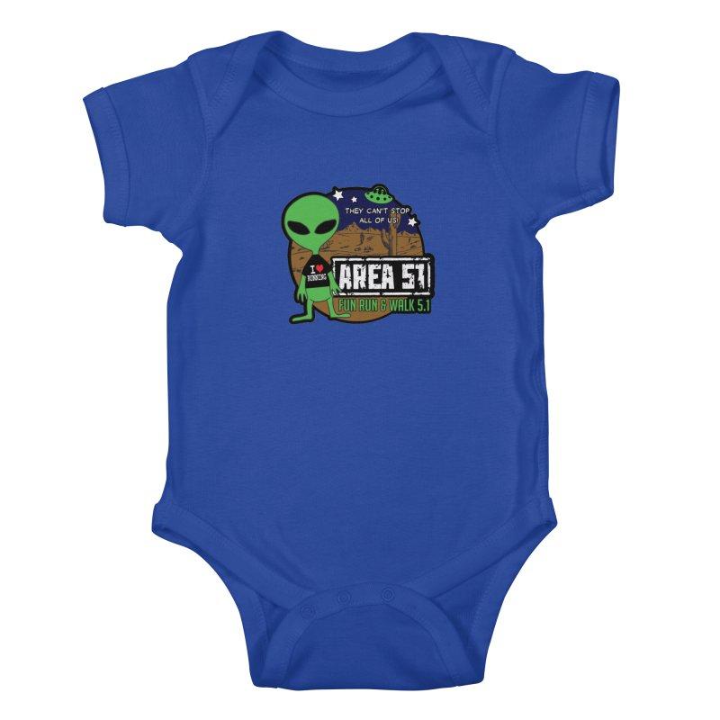 Area 51 5.1K Fun Run & Walk Kids Baby Bodysuit by Moon Joggers's Artist Shop