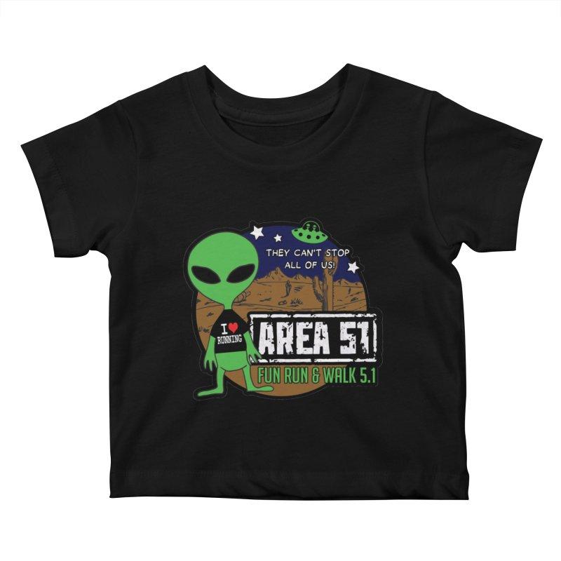 Area 51 5.1K Fun Run & Walk Kids Baby T-Shirt by Moon Joggers's Artist Shop