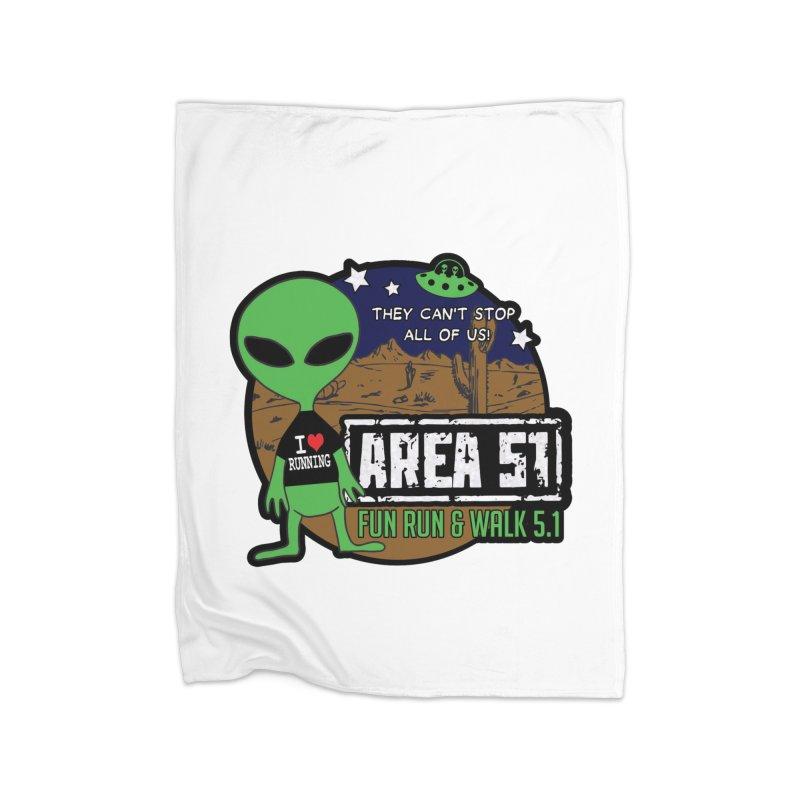 Area 51 5.1K Fun Run & Walk Home Fleece Blanket Blanket by Moon Joggers's Artist Shop
