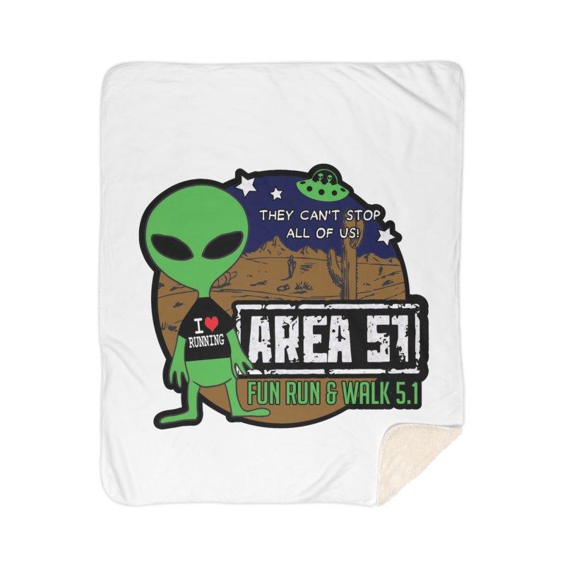 Area 51 5.1K Fun Run & Walk Home Sherpa Blanket Blanket by Moon Joggers's Artist Shop