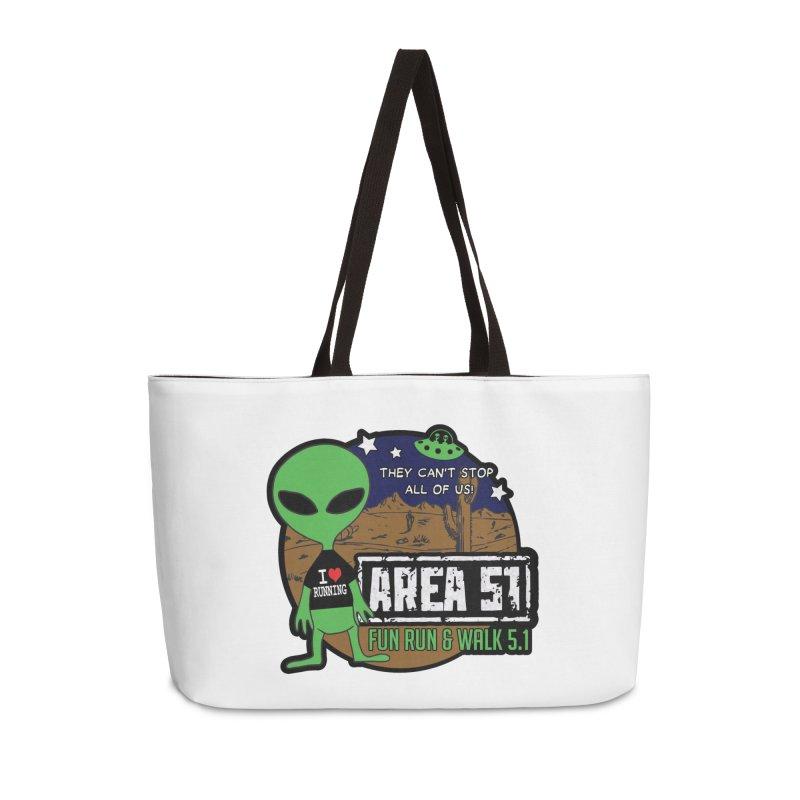 Area 51 5.1K Fun Run & Walk Accessories Weekender Bag Bag by Moon Joggers's Artist Shop