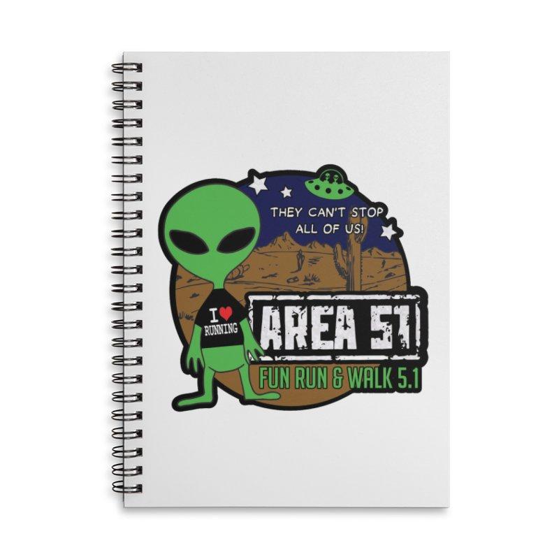 Area 51 5.1K Fun Run & Walk Accessories Lined Spiral Notebook by Moon Joggers's Artist Shop