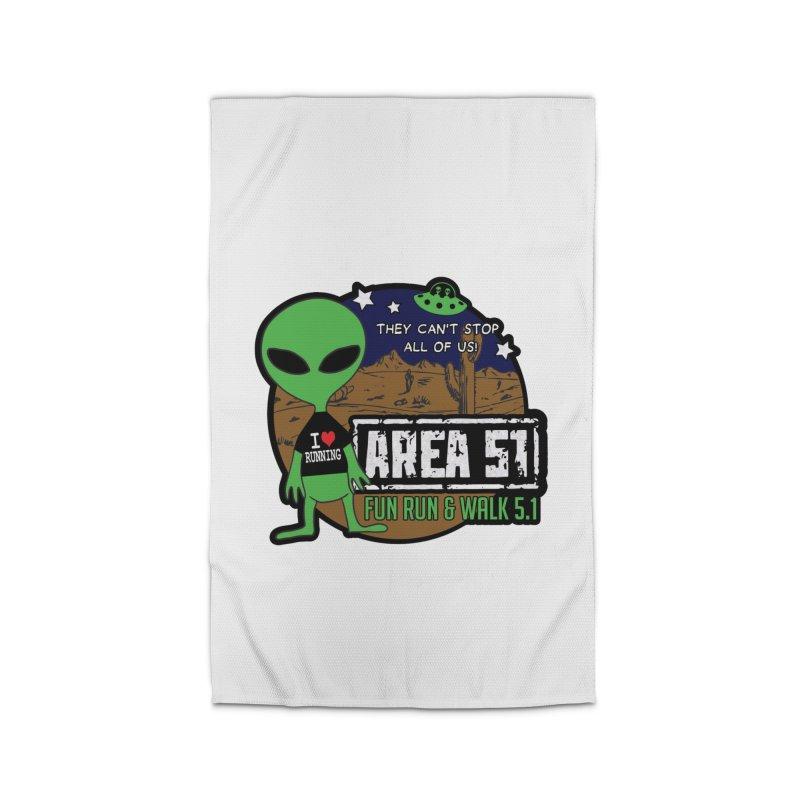 Area 51 5.1K Fun Run & Walk Home Rug by Moon Joggers's Artist Shop