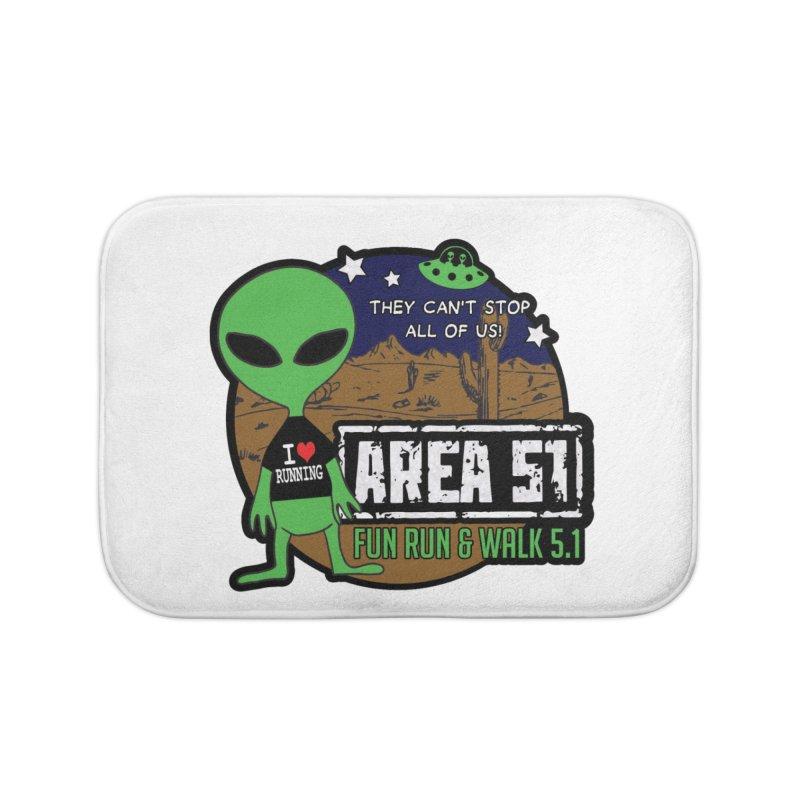 Area 51 5.1K Fun Run & Walk Home Bath Mat by Moon Joggers's Artist Shop