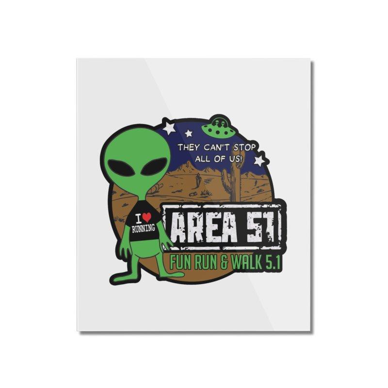 Area 51 5.1K Fun Run & Walk Home Mounted Acrylic Print by Moon Joggers's Artist Shop
