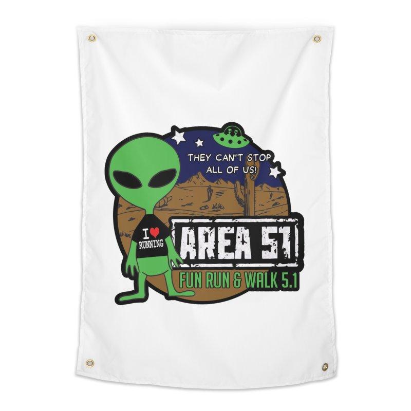 Area 51 5.1K Fun Run & Walk Home Tapestry by Moon Joggers's Artist Shop