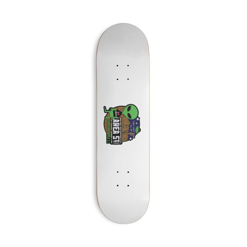 Area 51 5.1K Fun Run & Walk Accessories Deck Only Skateboard by Moon Joggers's Artist Shop