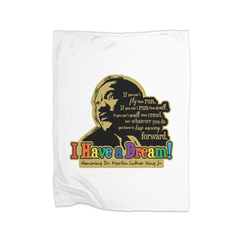 I Have a Dream Home Fleece Blanket Blanket by Moon Joggers's Artist Shop