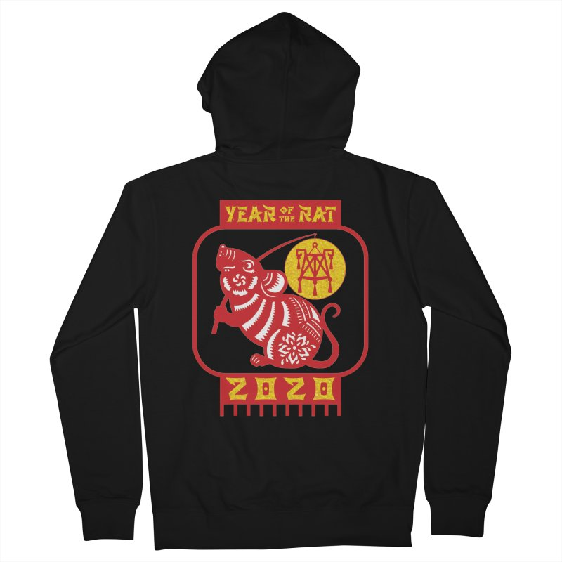 Chinese New Year - Year of the Rat Women's French Terry Zip-Up Hoody by Moon Joggers's Artist Shop