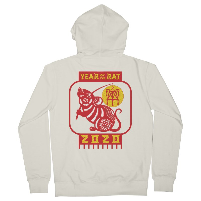 Chinese New Year - Year of the Rat Men's French Terry Zip-Up Hoody by Moon Joggers's Artist Shop