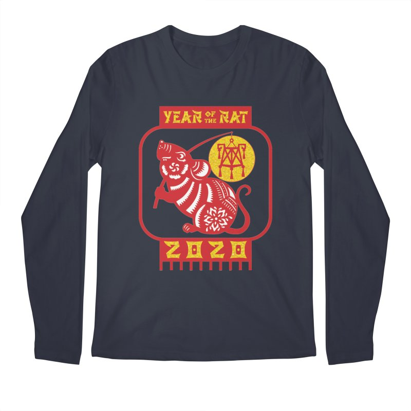 Chinese New Year - Year of the Rat Men's Regular Longsleeve T-Shirt by Moon Joggers's Artist Shop