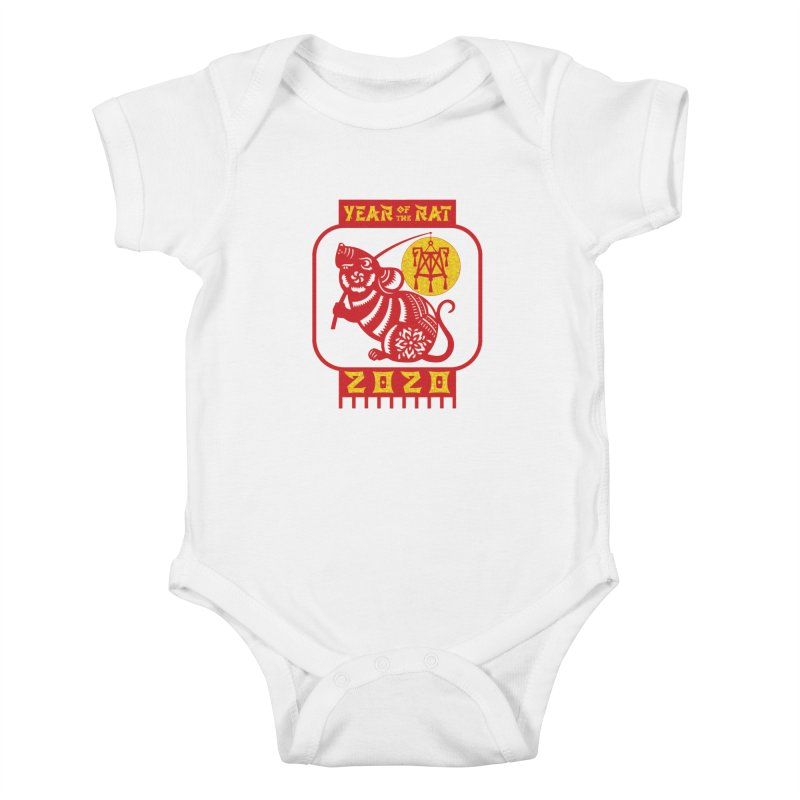 Chinese New Year - Year of the Rat Kids Baby Bodysuit by Moon Joggers's Artist Shop