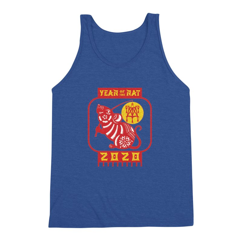Chinese New Year - Year of the Rat Men's Triblend Tank by Moon Joggers's Artist Shop