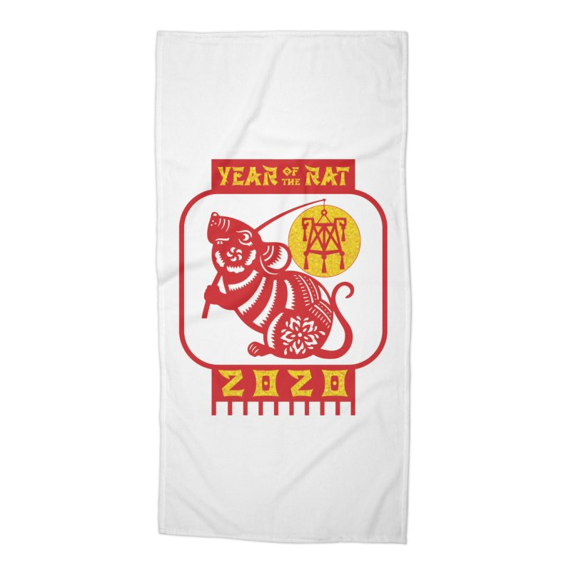 Chinese New Year - Year of the Rat Accessories Beach Towel by Moon Joggers's Artist Shop