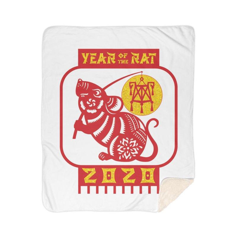 Chinese New Year - Year of the Rat Home Sherpa Blanket Blanket by Moon Joggers's Artist Shop