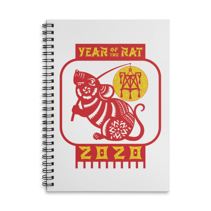 Chinese New Year - Year of the Rat Accessories Lined Spiral Notebook by Moon Joggers's Artist Shop