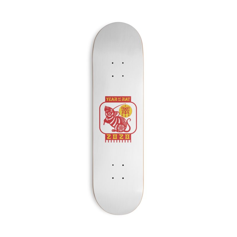 Chinese New Year - Year of the Rat Accessories Deck Only Skateboard by Moon Joggers's Artist Shop