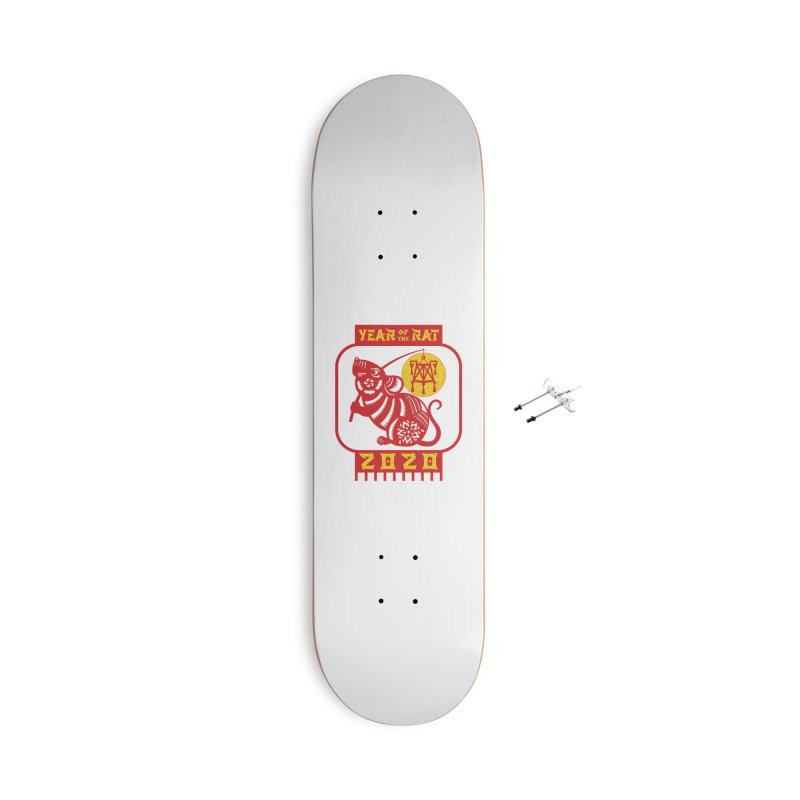 Chinese New Year - Year of the Rat Accessories With Hanging Hardware Skateboard by Moon Joggers's Artist Shop