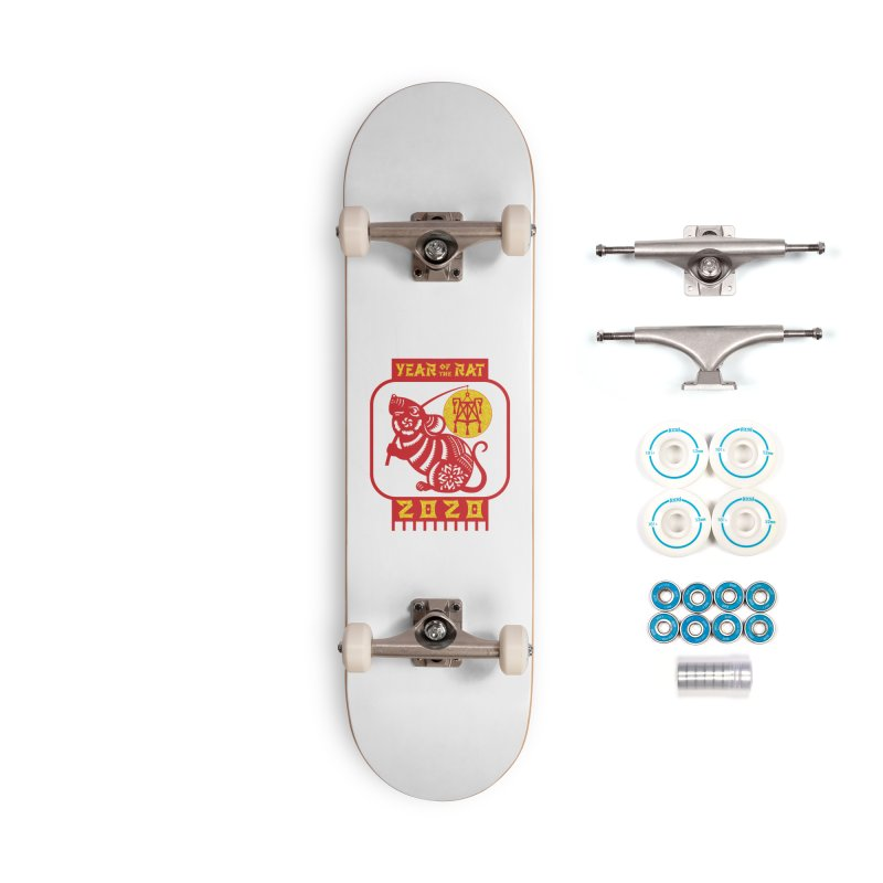 Chinese New Year - Year of the Rat Accessories Complete - Basic Skateboard by Moon Joggers's Artist Shop