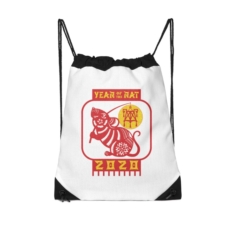 Chinese New Year - Year of the Rat Accessories Drawstring Bag Bag by Moon Joggers's Artist Shop
