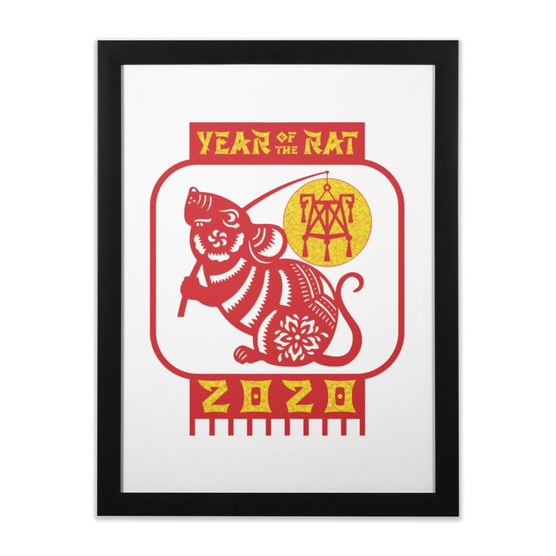Chinese New Year - Year of the Rat Home Framed Fine Art Print by Moon Joggers's Artist Shop
