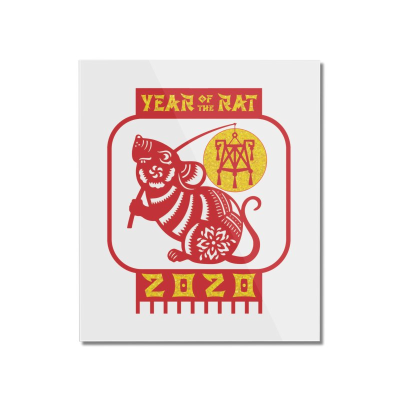 Chinese New Year - Year of the Rat Home Mounted Acrylic Print by Moon Joggers's Artist Shop