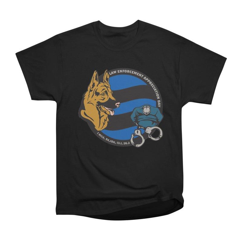 Law Enforcement Appreciation Men's Heavyweight T-Shirt by Moon Joggers's Artist Shop