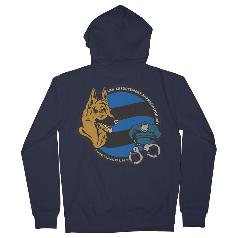 Law Enforcement Appreciation Women's French Terry Zip-Up Hoody by Moon Joggers's Artist Shop