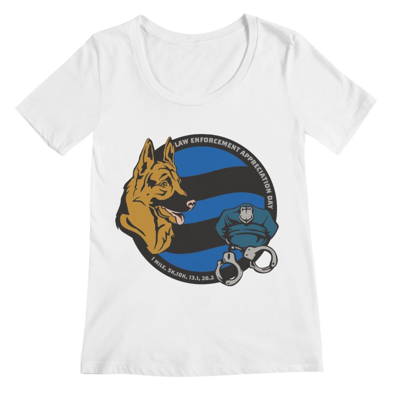 Law Enforcement Appreciation Women's Regular Scoop Neck by Moon Joggers's Artist Shop