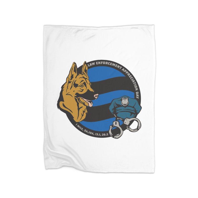 Law Enforcement Appreciation Home Fleece Blanket Blanket by Moon Joggers's Artist Shop