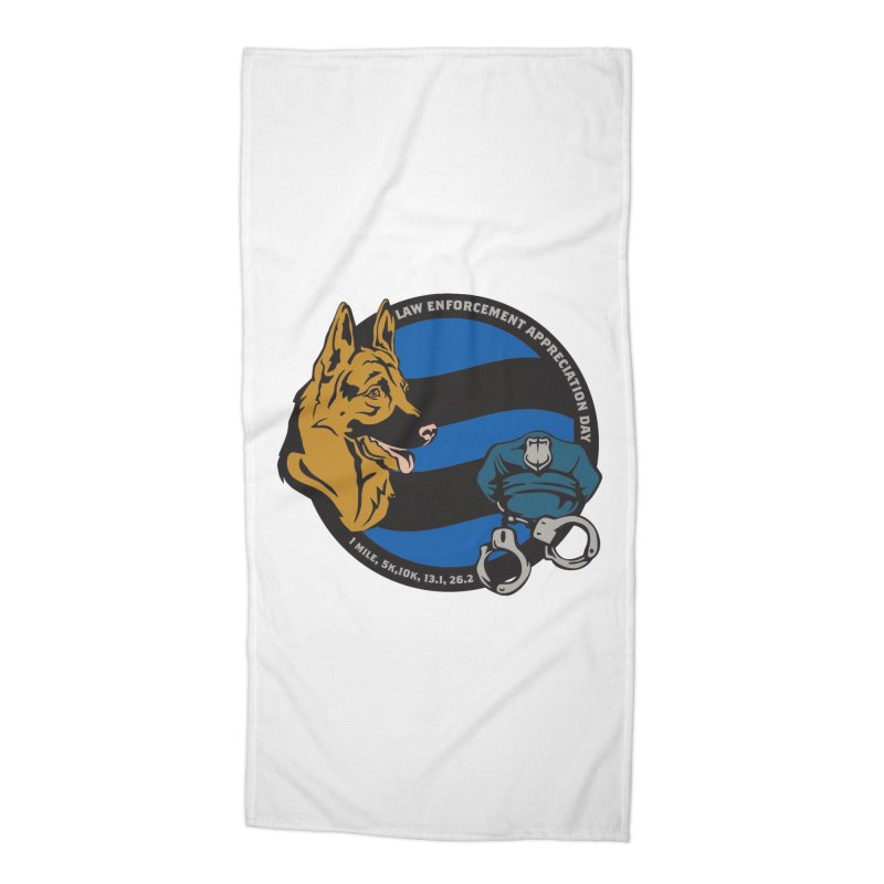 Law Enforcement Appreciation Accessories Beach Towel by Moon Joggers's Artist Shop
